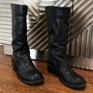 Fiorentini and baker Black leather boots